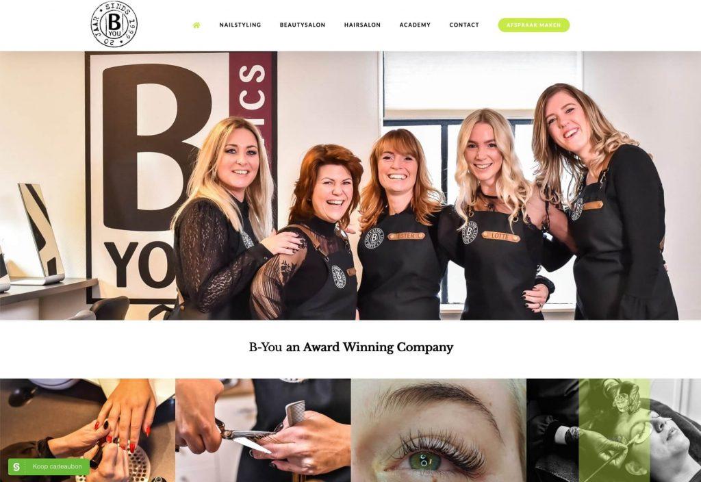 B-You Cosmetics - Website realisatie Obviousmedia.nl