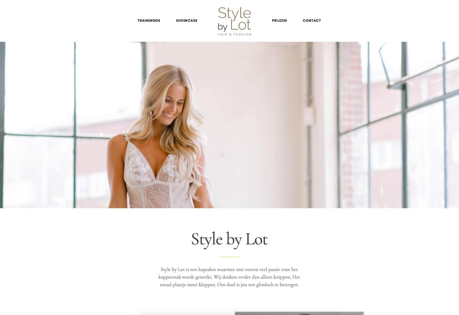 Style by Lot - Kapsalon Almelo - Website realisatie Obviousmedia.nl