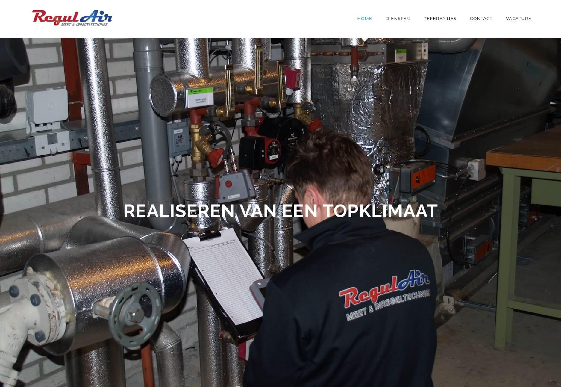 Regulair - Meet- en minregeltechniek - Website realisatie: Obvious Media