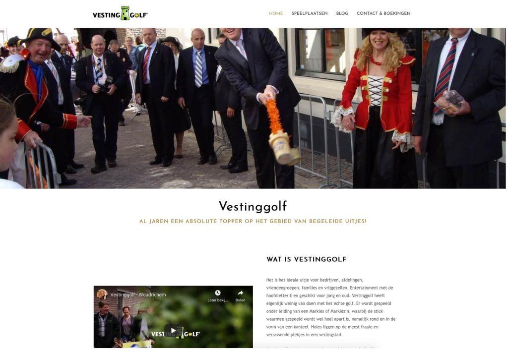 Vestinggolf - Website realisatie Obviousmedia.nl